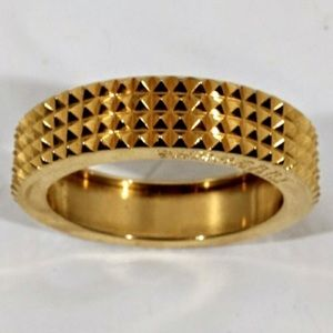 Authentic NWT Burberry gold toned spiked bangle